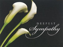 The Beauty of Lilies Sympathy Cards